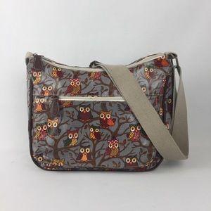 Anlandía Cartoon Owl Print Oulcloth Crossbody Bag